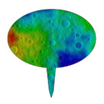 Vesta Asteroid Surface Abstract Cake Toppers