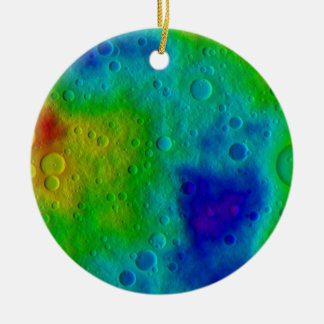 Vesta Asteroid Surface Abstract Ceramic Ornament