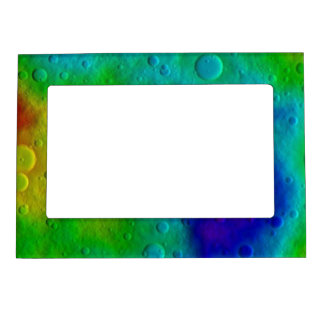 Vesta Asteroid Surface Abstract Magnetic Frame