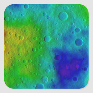 Vesta Asteroid Surface Abstract Square Sticker