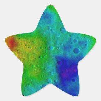 Vesta Asteroid Surface Abstract Star Sticker