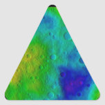 Vesta Asteroid Surface Abstract Triangle Sticker