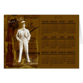 Vesta Tilley 2011 Calendar Card