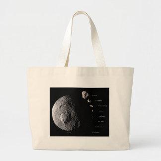 Vesta y galería asteroide bolsa tela grande
