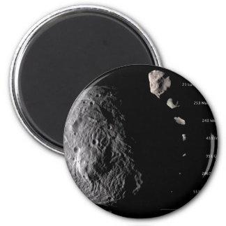 Vesta y galería asteroide imán redondo 5 cm