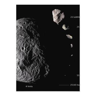 """Vesta y galería asteroide invitación 5.5"""" x 7.5"""""""
