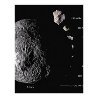 Vesta y galería asteroide membrete