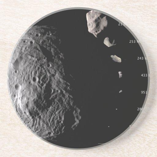 Vesta y galería asteroide posavasos cerveza