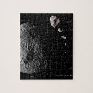 Vesta y galería asteroide puzzle con fotos