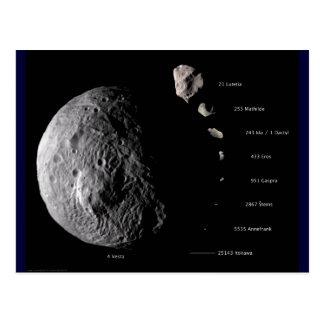 Vesta y galería asteroide tarjeta postal