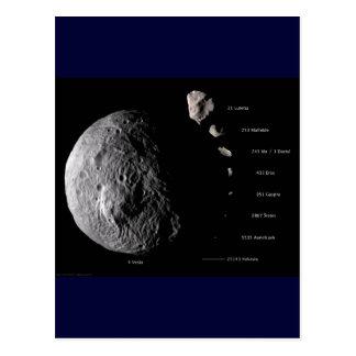 Vesta y galería asteroide postales