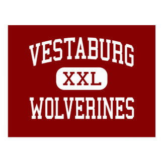 Vestaburg - Wolverines - High - Vestaburg Michigan Postcard