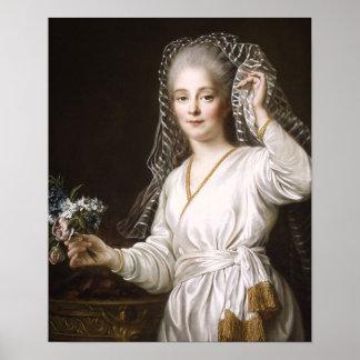 Vestal Virgin by François Hubert Drouais Poster