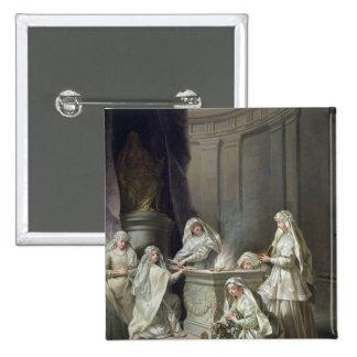 Vestal Virgins, 1727 Pinback Button