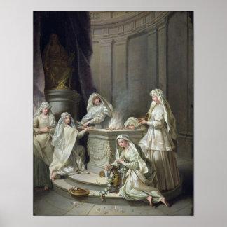 Vestal Virgins, 1727 Poster