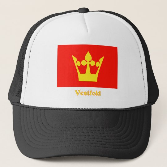 Vestfold flag with name trucker hat