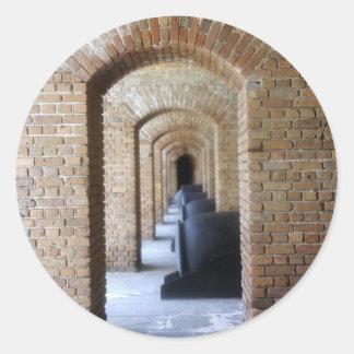 Vestíbulo histórico pegatinas redondas