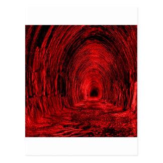Vestíbulo rojo de la cueva postal