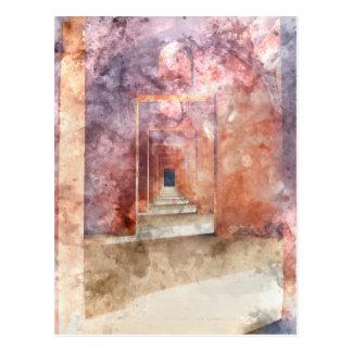 Vestíbulo rojo en el Taj Mahal Tarjeta Postal