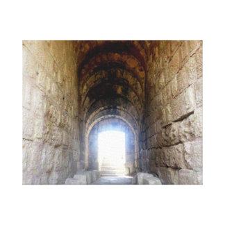 Vestíbulo romano del teatro de Jerash Impresión En Lona