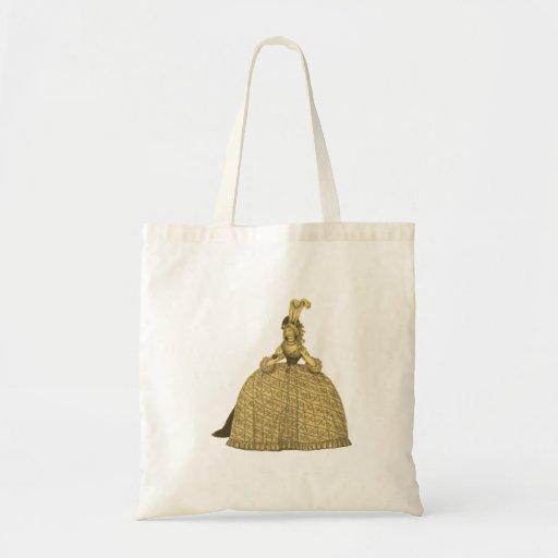 Vestido 1794 del vintage bolsas de mano