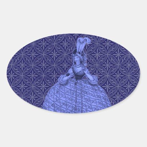 Vestido 1794 del vintage colcomanias ovaladas personalizadas