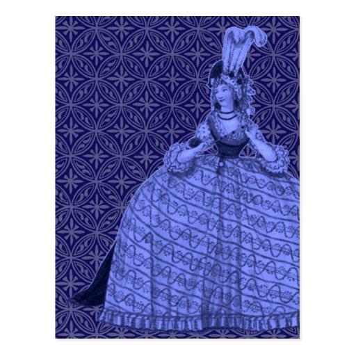 Vestido 1794 del vintage postales