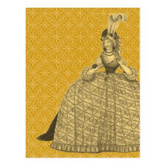 Vestido 1794 del vintage postal