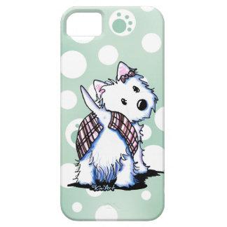 Vestido a la caja del teléfono de Westie de la fal iPhone 5 Case-Mate Cárcasas