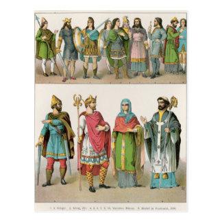 Vestido anglosajón tarjetas postales