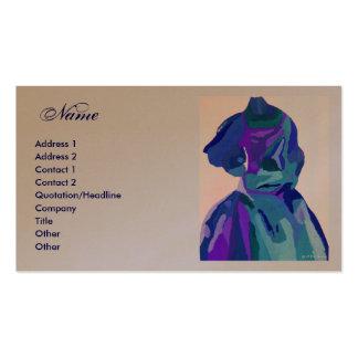 Vestido azul I del diseñador de moda Tarjetas De Visita