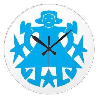 Vestido azul reloj redondo grande