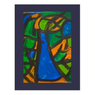 Vestido azul tarjeta postal
