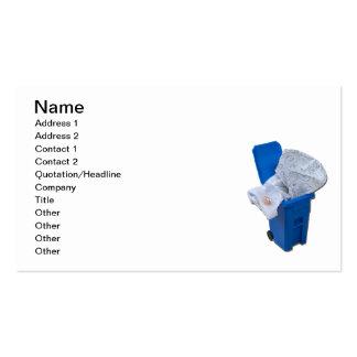 Vestido blanco en papelera de reciclaje tarjetas de visita
