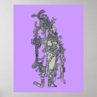 Vestido ceremonial maya póster
