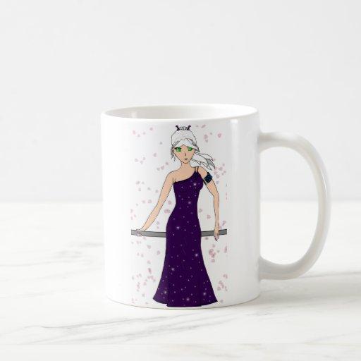 Vestido cristalino taza básica blanca
