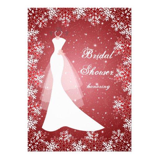 Vestido de boda, copos de nieve en ducha nupcial r anuncios personalizados