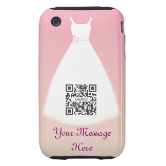 vestido de boda de la plantilla del caso del carcasa resistente para iPhone