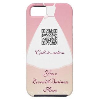 vestido de boda de la plantilla del caso del funda para iPhone SE/5/5s