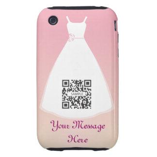 vestido de boda de la plantilla del caso del funda resistente para iPhone 3