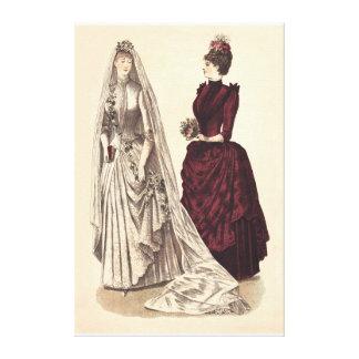 Vestido de boda del Victorian Impresion De Lienzo