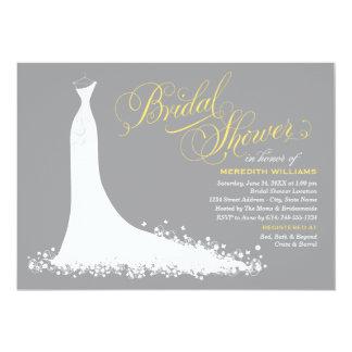 Vestido de boda elegante nupcial de la invitación invitación 12,7 x 17,8 cm