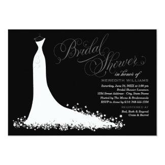 Vestido de boda elegante nupcial de la invitación