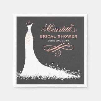 Vestido de boda elegante nupcial de las servilletas desechables
