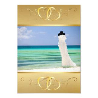 """Vestido de boda en la playa Invitation3 Invitación 5"""" X 7"""""""