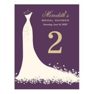 Vestido de boda nupcial de la tarjeta el | del núm tarjeta postal