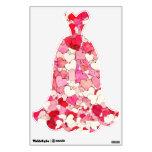 Vestido de boda rojo, rosado y poner crema minúscu