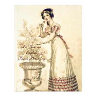 Vestido de bola de la regencia de Jane Austen Membretes Personalizados