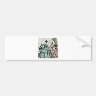 Vestido de bola de preguerra de las señoras de la  pegatina de parachoque
