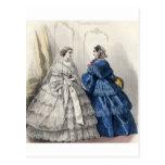 Vestido de bola de preguerra de las señoras de la postal